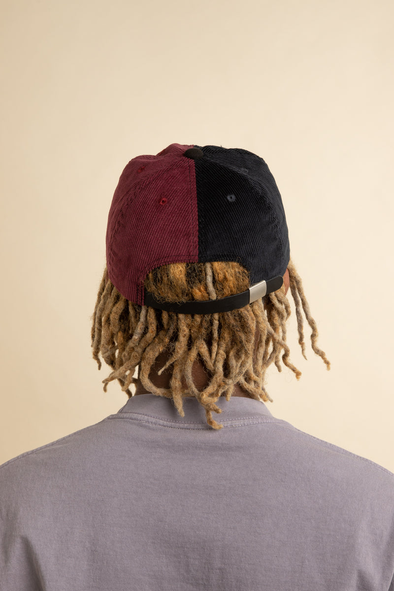 Brain Dead - Navy & Maroon Colorblocked Corduroy Hat