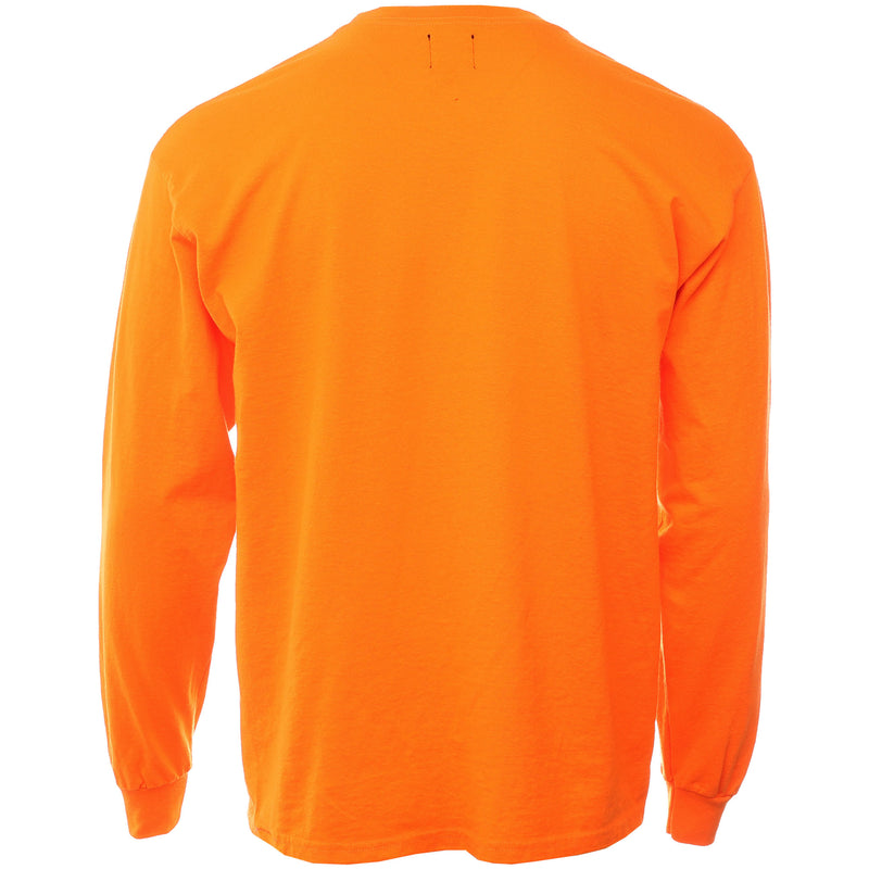 Brain Dead - Orange Infected Logo Long Sleeve T Shirt