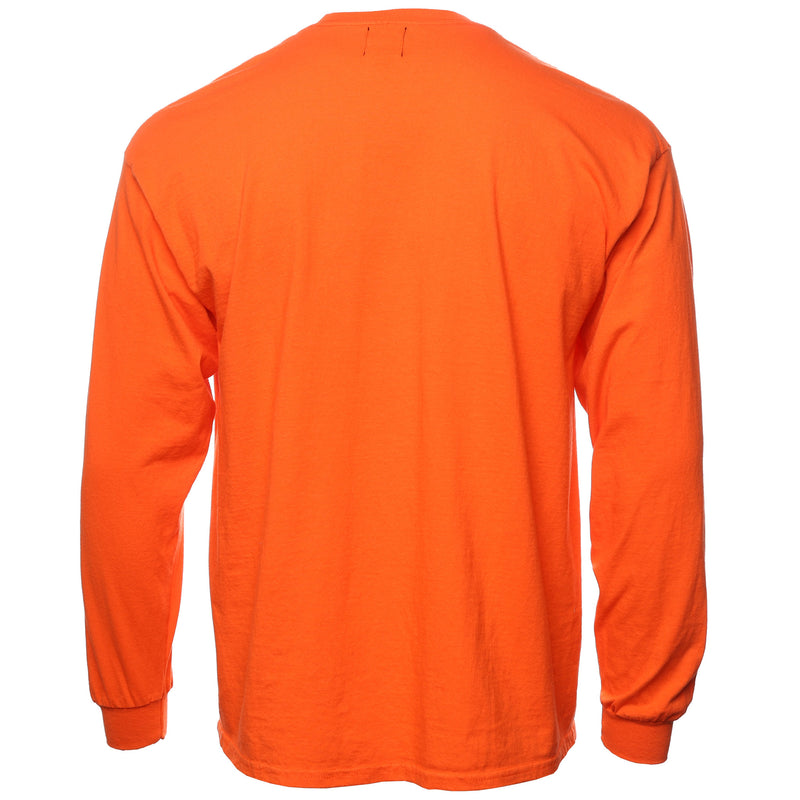 Brain Dead Orange Ooze Long Sleeve T-Shirt Back
