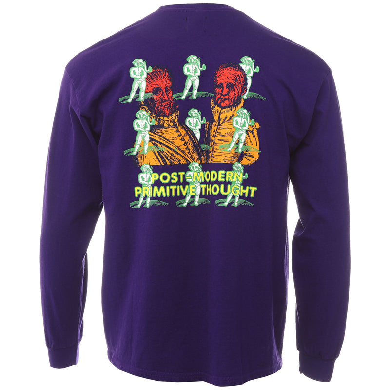 Brain Dead - Purple Human Beings Long Sleeve T Shirt