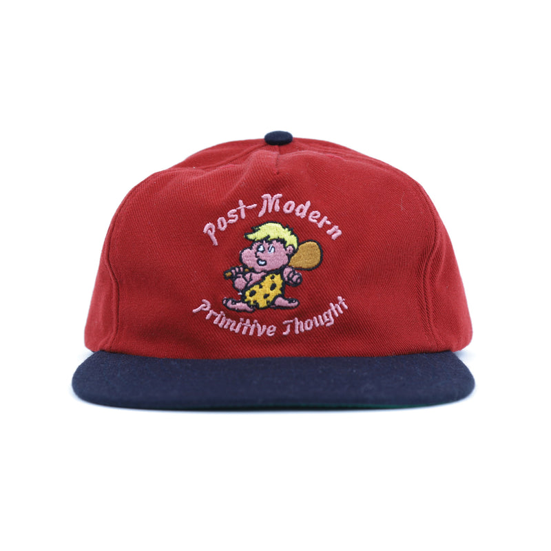 Brain Dead Red Cave Man Five Panel Hat Front