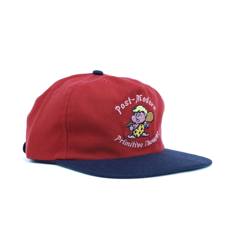 Brain Dead Red Cave Man Five Panel Hat Side