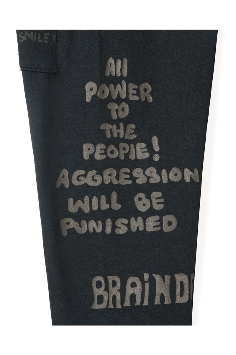 Brain Dead - Black Tonal Type Print Sweatpants