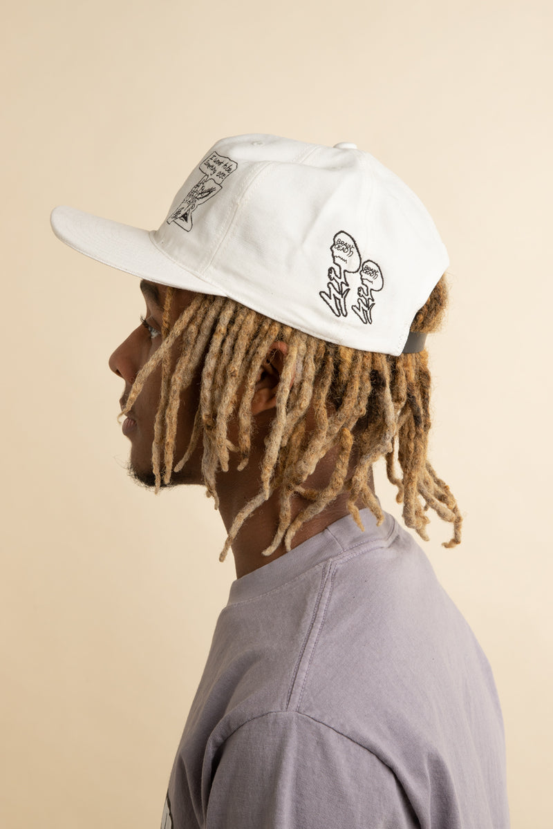 Brain Dead - White Leon Sadler Hat