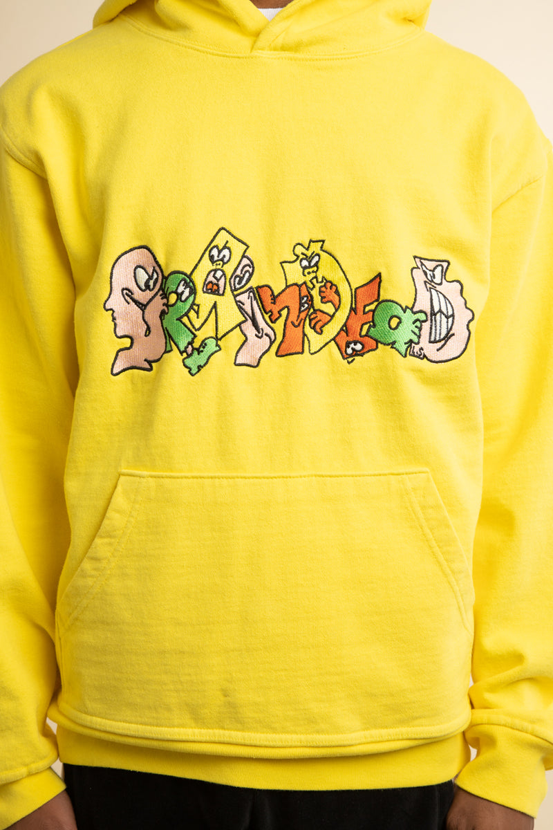 Brain Dead - Yellow Embroidered Graffiti Hoodie