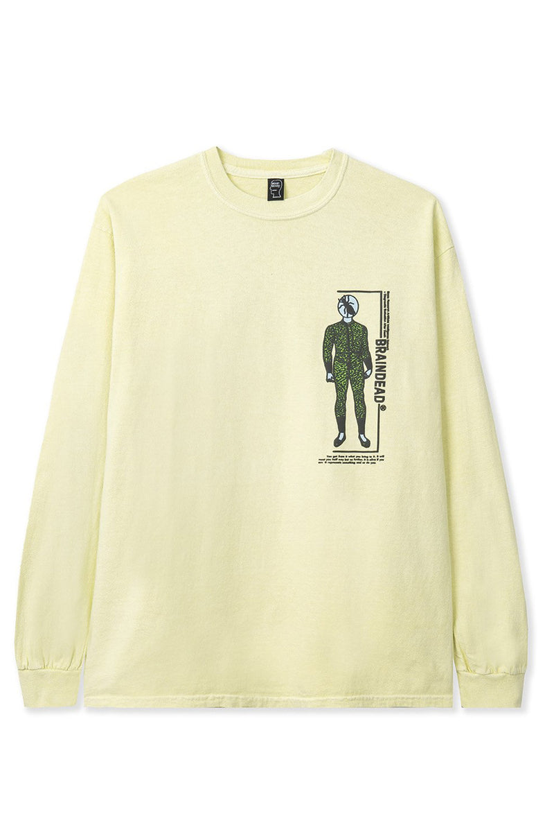 Brain Dead - Yellow Evaluate Long Sleeve T-Shirt