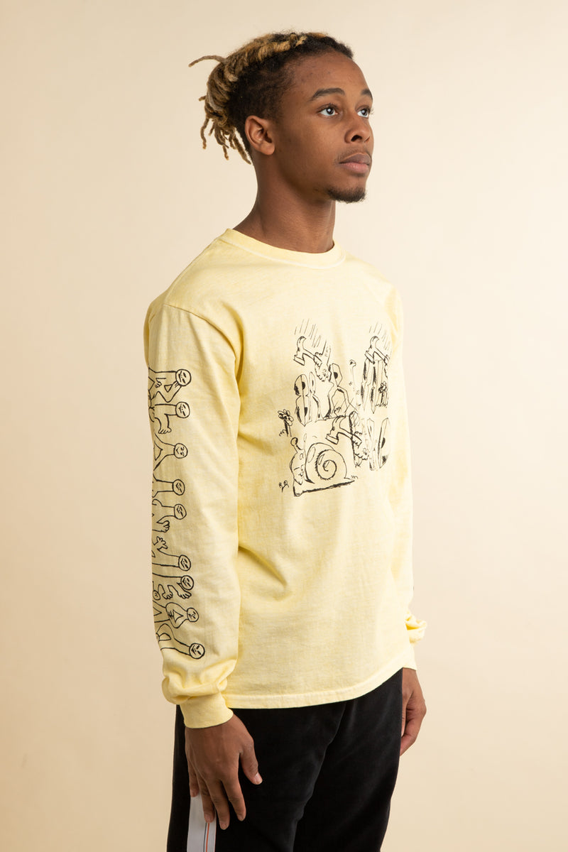 Brain Dead - Yellow Leon's Girl Long Sleeve T-Shirt