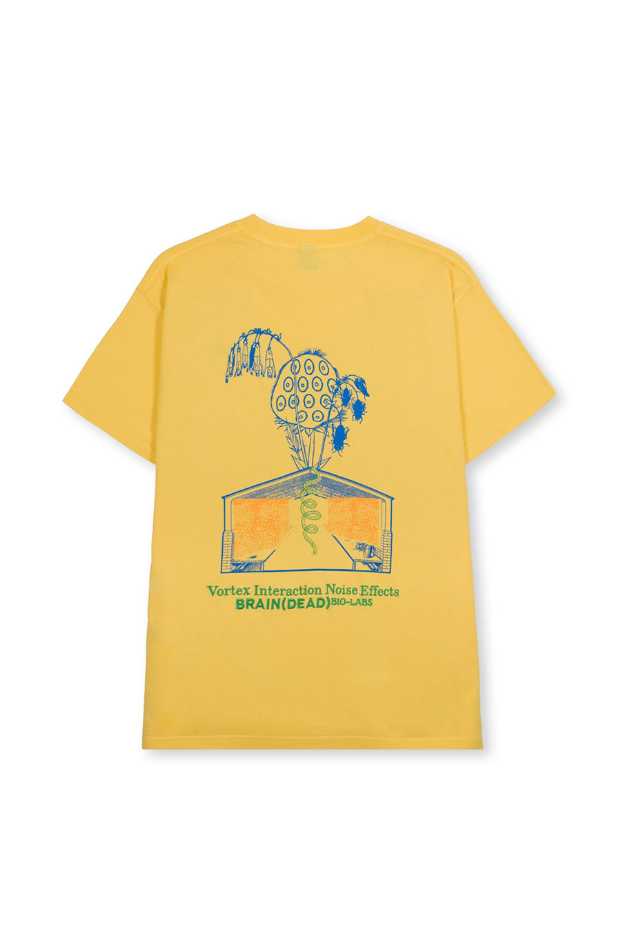 Brain Dead - Yellow Vortex Interaction Noise Effects T-Shirt