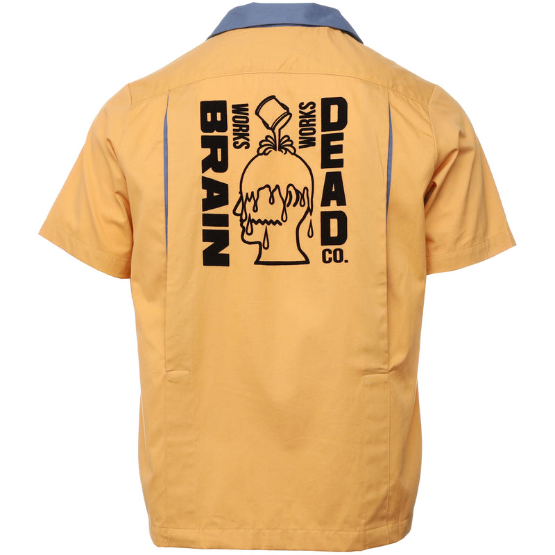 Brain Dead - Yellow Works Bowling Shirt