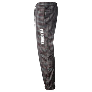 Brown Plaid Athletic Track Pants
