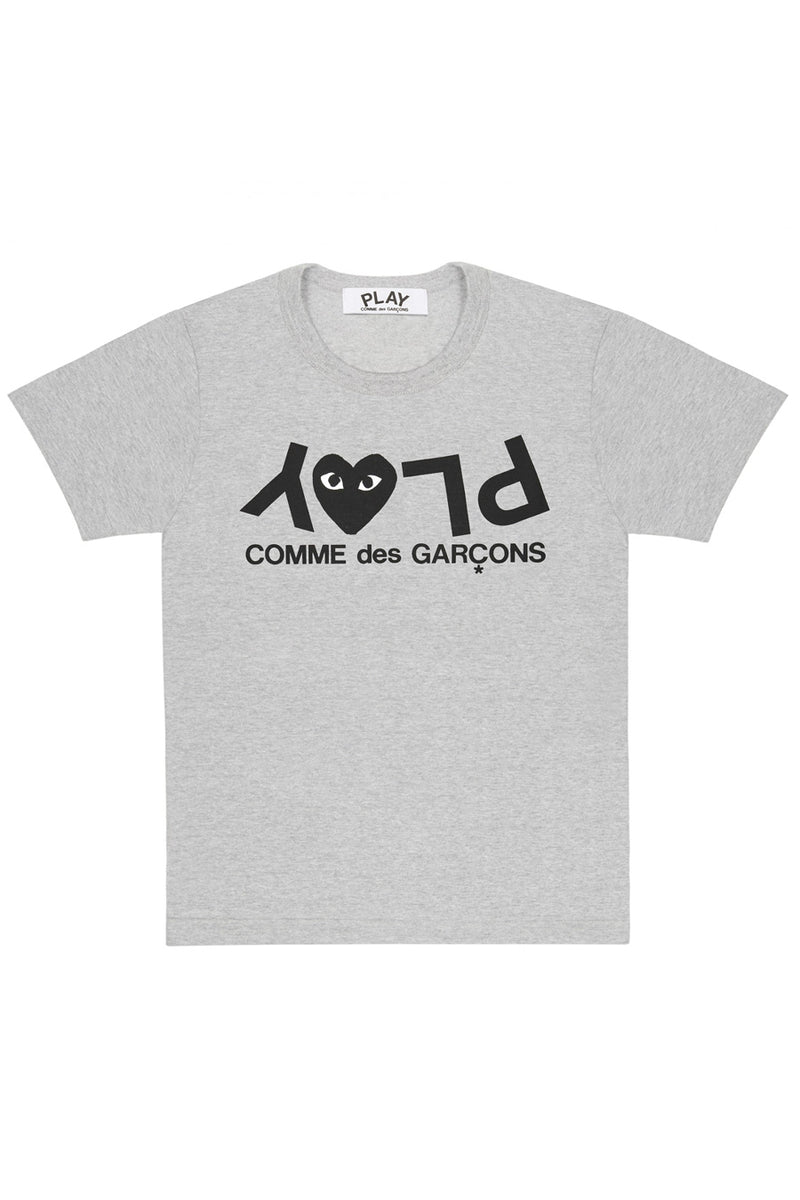 Comme des Garçons PLAY - Grey Upside Down PLAY T-Shirt