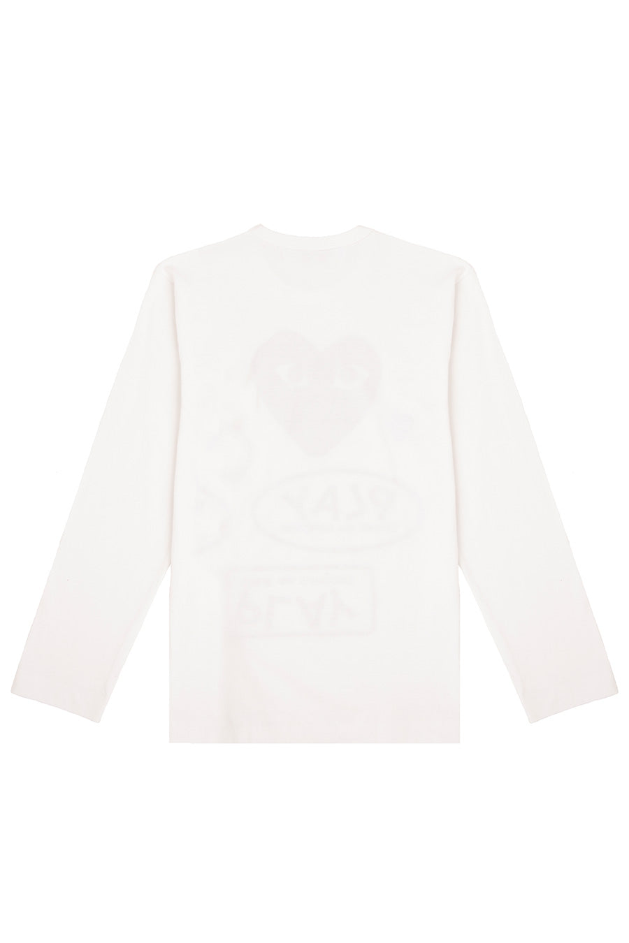 Comme des Garçons PLAY - White All Over Print Long Sleeve T-Shirt | 1032 SPACE