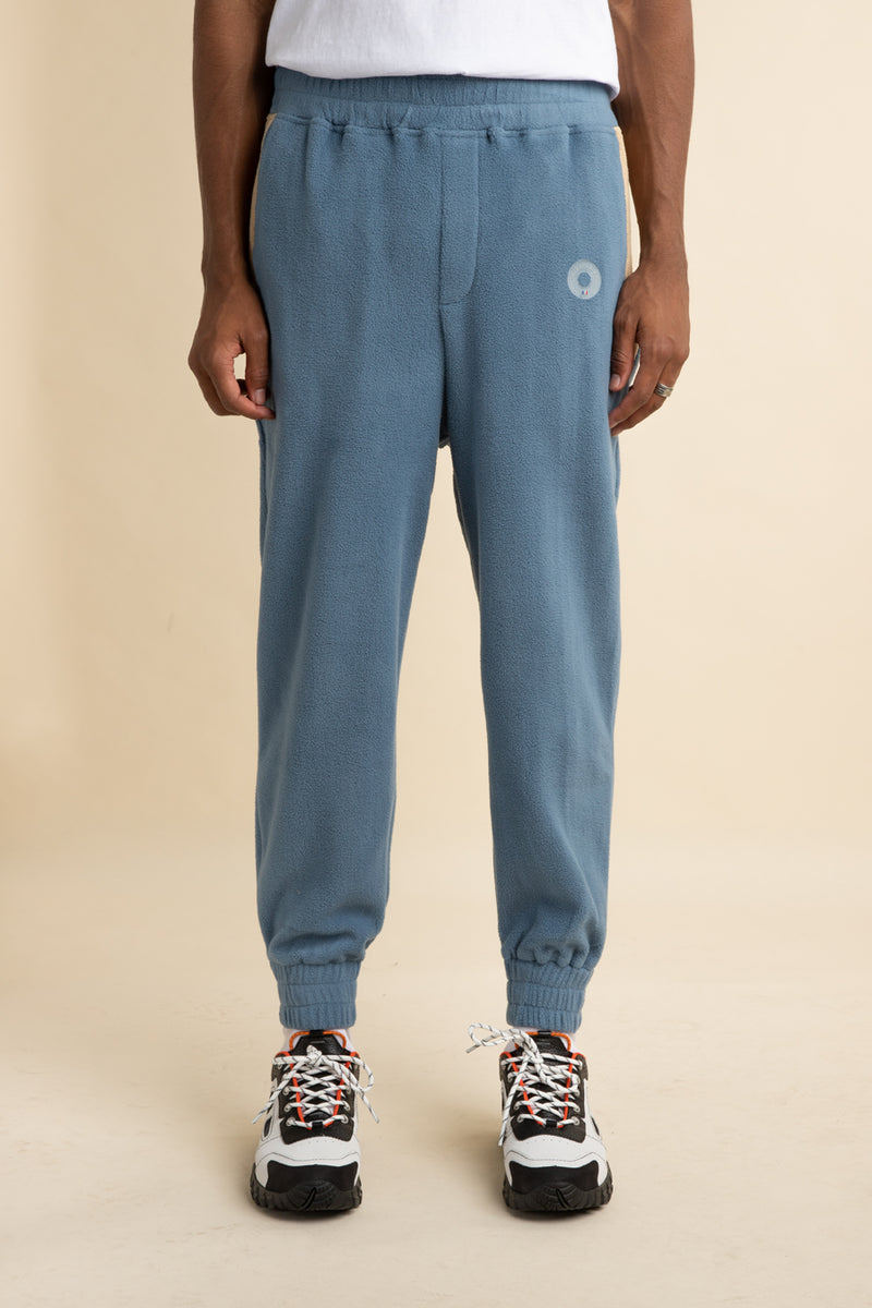 Drole de Monsiuer - Blue Polar Fleece Cuffed Sweatpants
