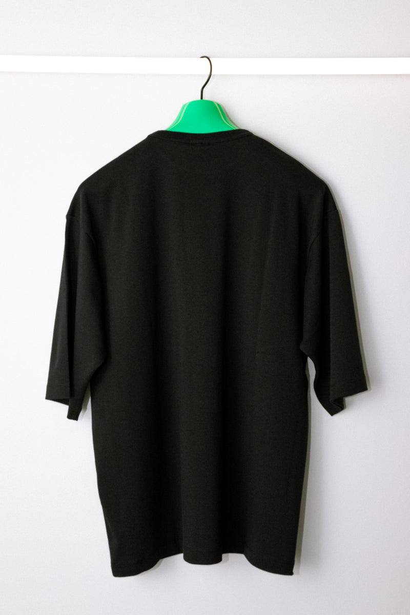 Drôle de Monsieur - Black Oversized Patched T-Shirt