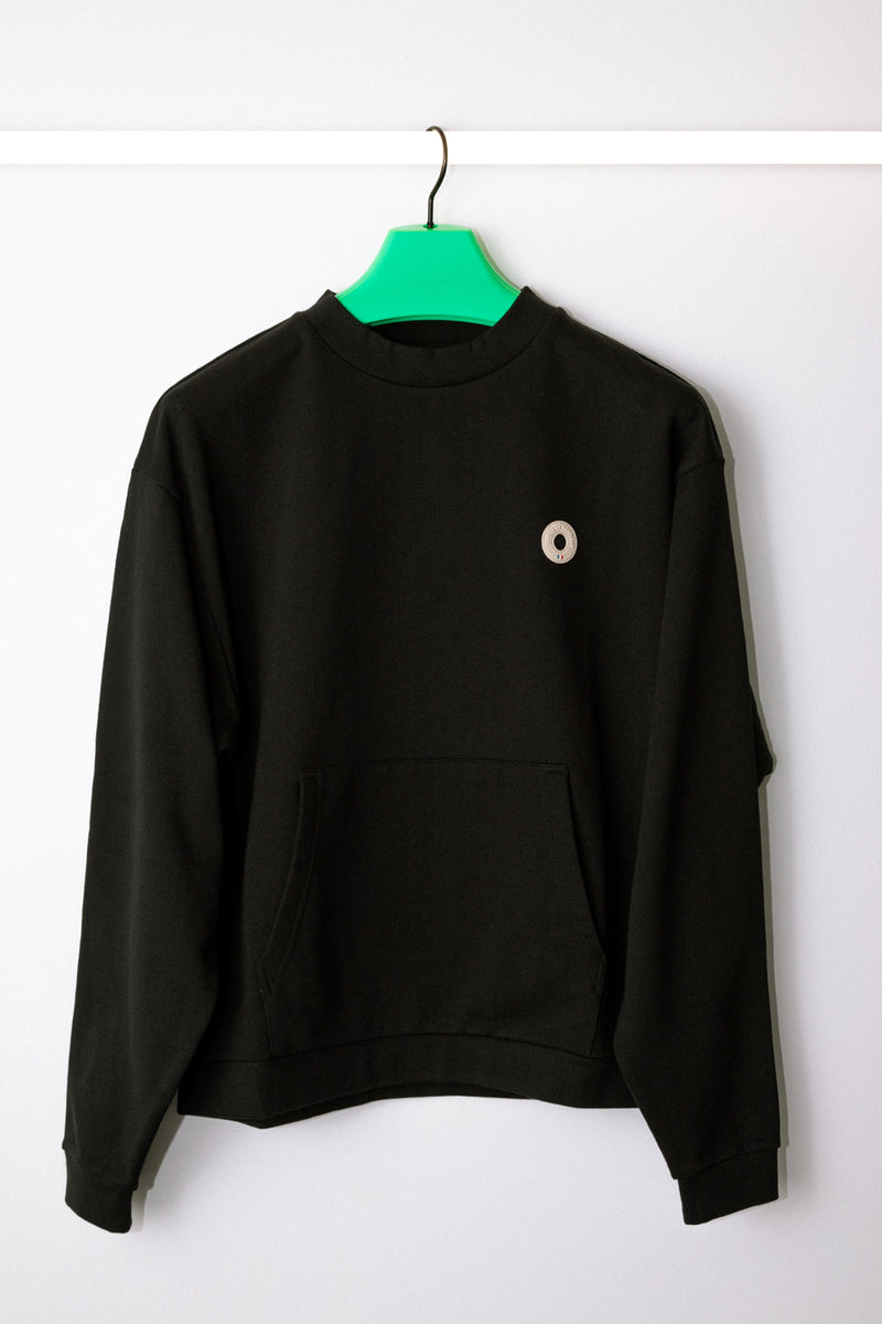 Drôle de Monsieur - Black Slogan Pocket Crewneck