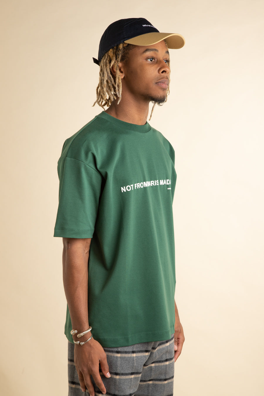 Green Classic Slogan T-Shirt