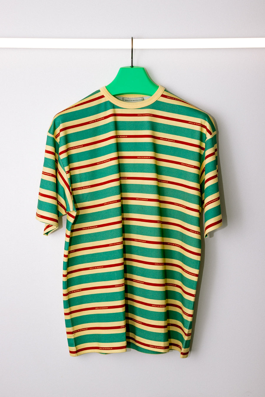 Drôle de Monsieur - Green Vintage Striped T-Shirt