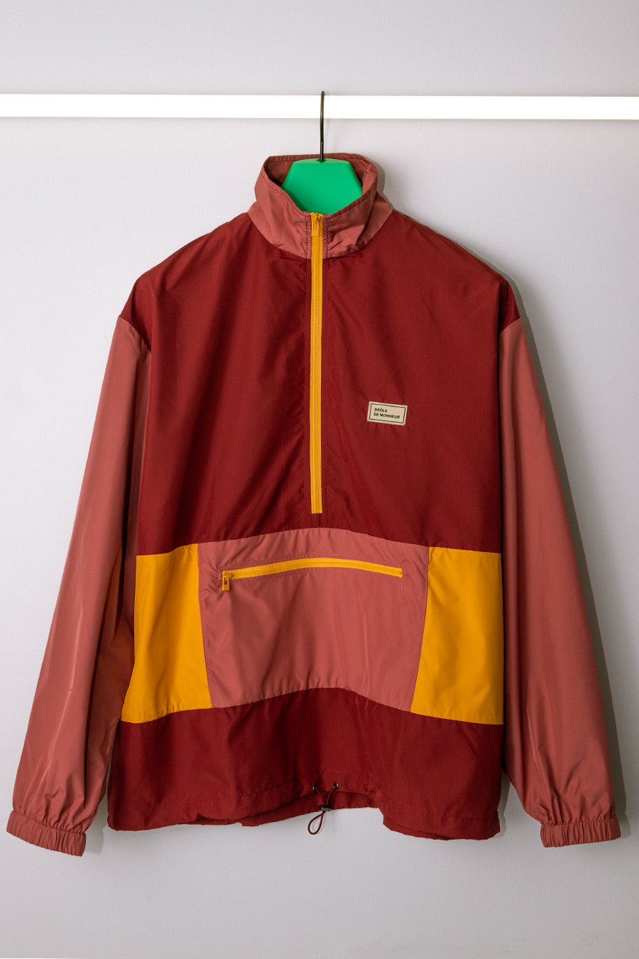 Drôle de Monsieur - Burgundy Nylon Paneled Jacket