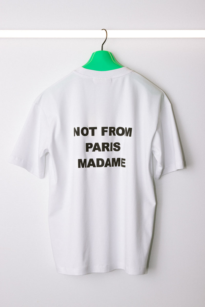 Drôle de Monsieur - White Backprint NFPM T-Shirt