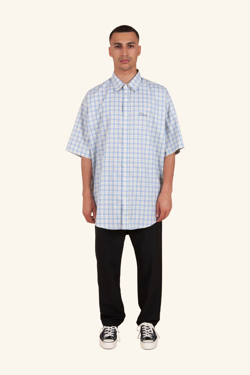 Drôle de Monsieur - Blue & Yellow Oversize Check Shirt