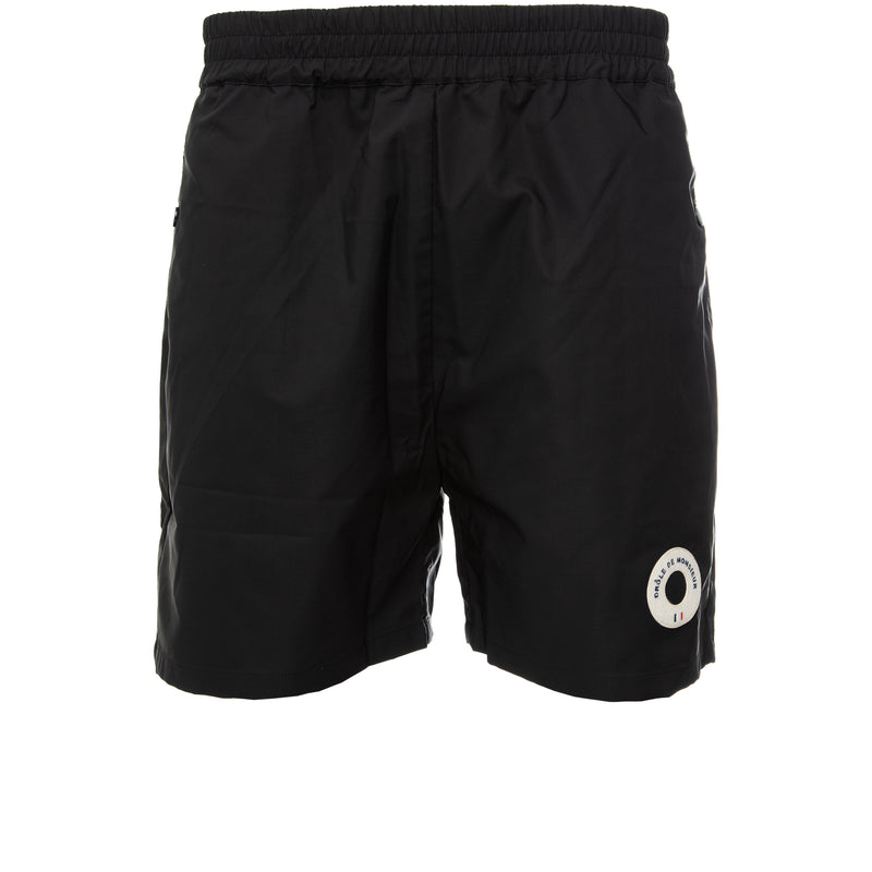 Drole de Monsieur - Black Patch Logo Shorts