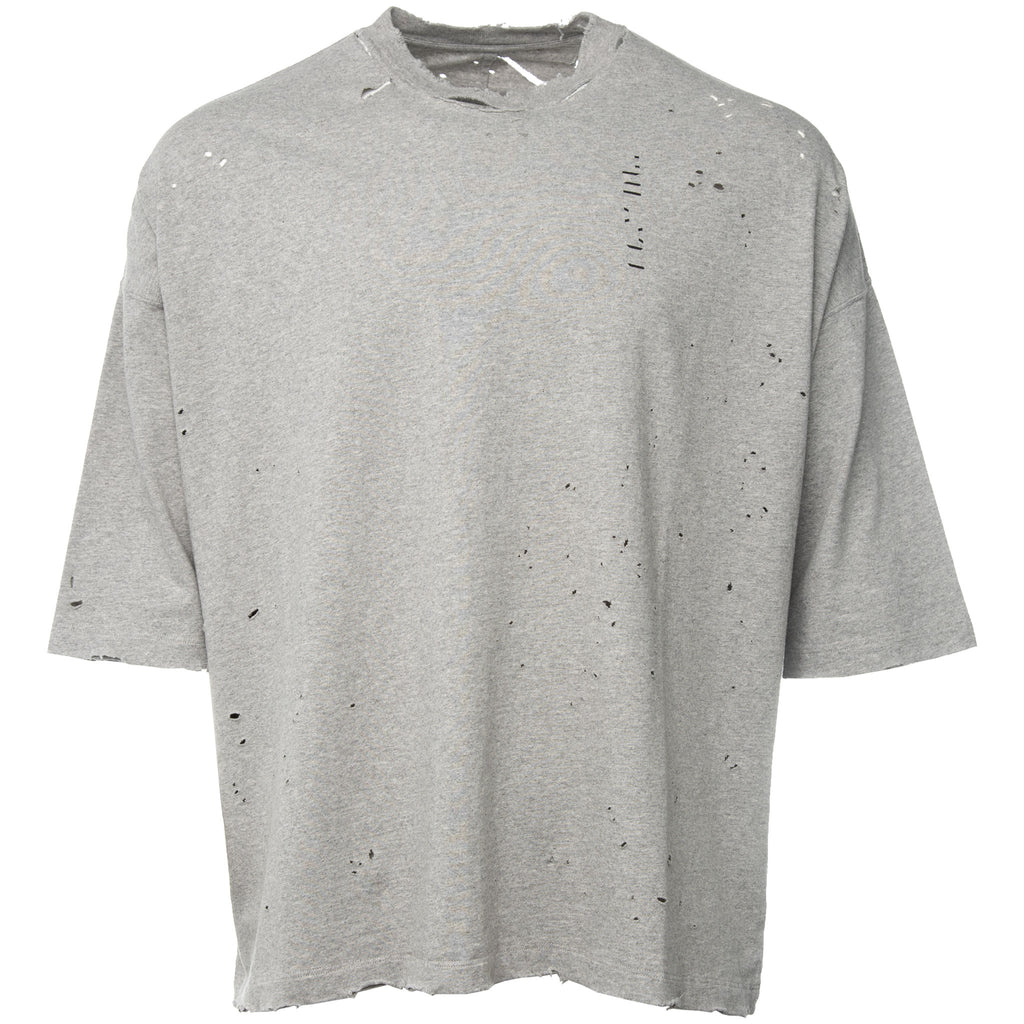Grey Oversized To Create Vintage Distressed T-Shirt
