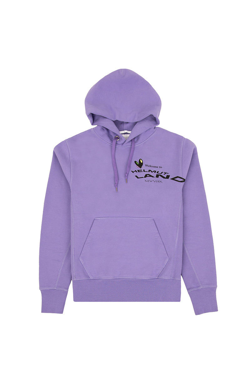 Helmut Lang - Purple Helmut Land Map Standard Hoodie | 1032 SPACE
