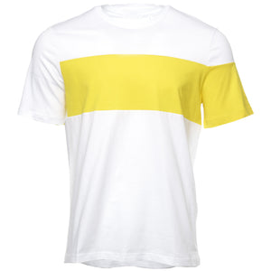 Yellow and White Band Logo T-Shirt