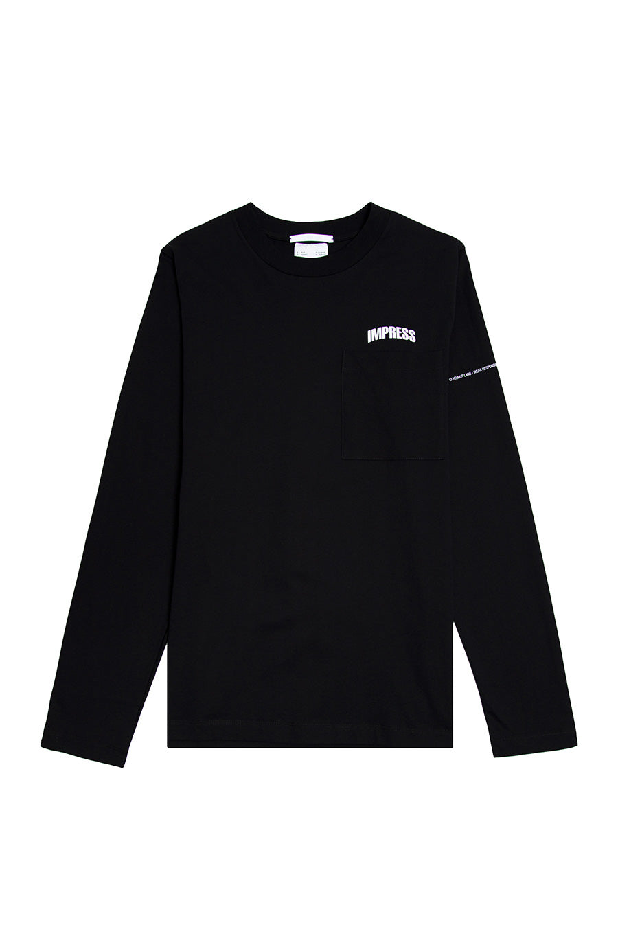 Helmut Lang - Black Impress Long Sleeve T-Shirt | 1032 SPACE