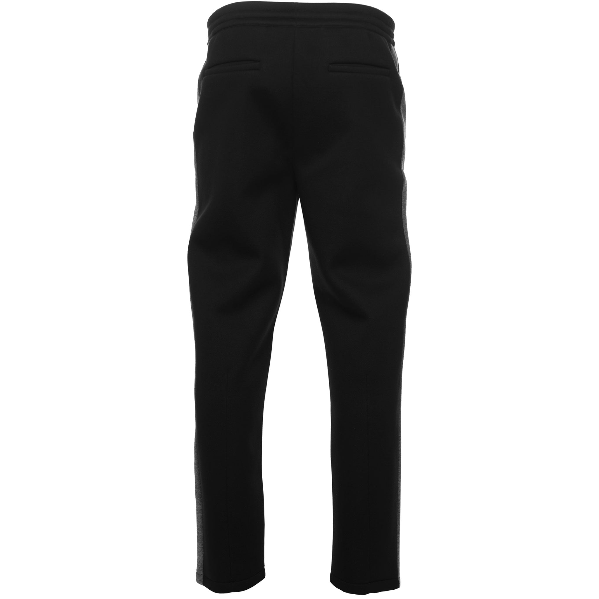 Helmut Lang Black Pleated Contrast Track Pants Front Neoprene
