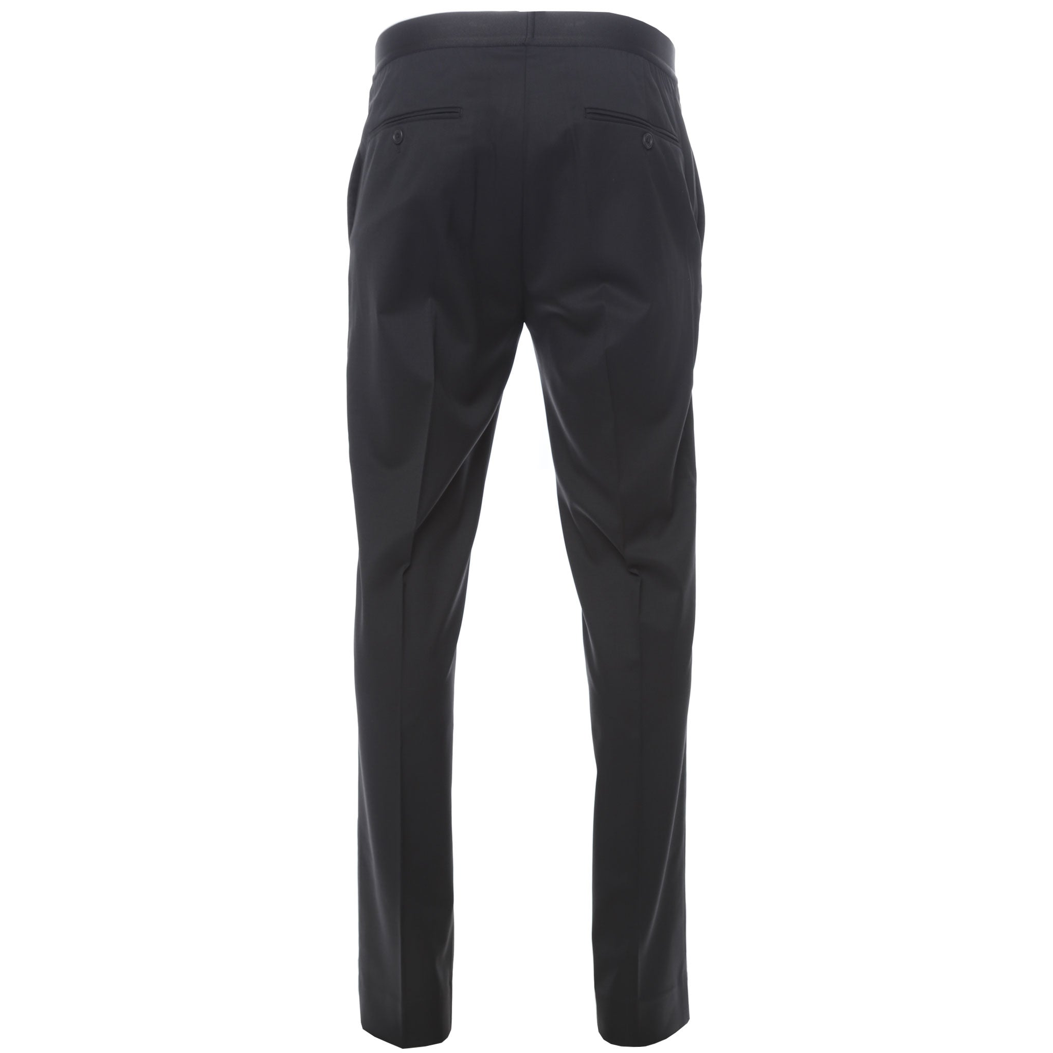 Helmut Lang Black Elastic Waistband Wool Trousers Back