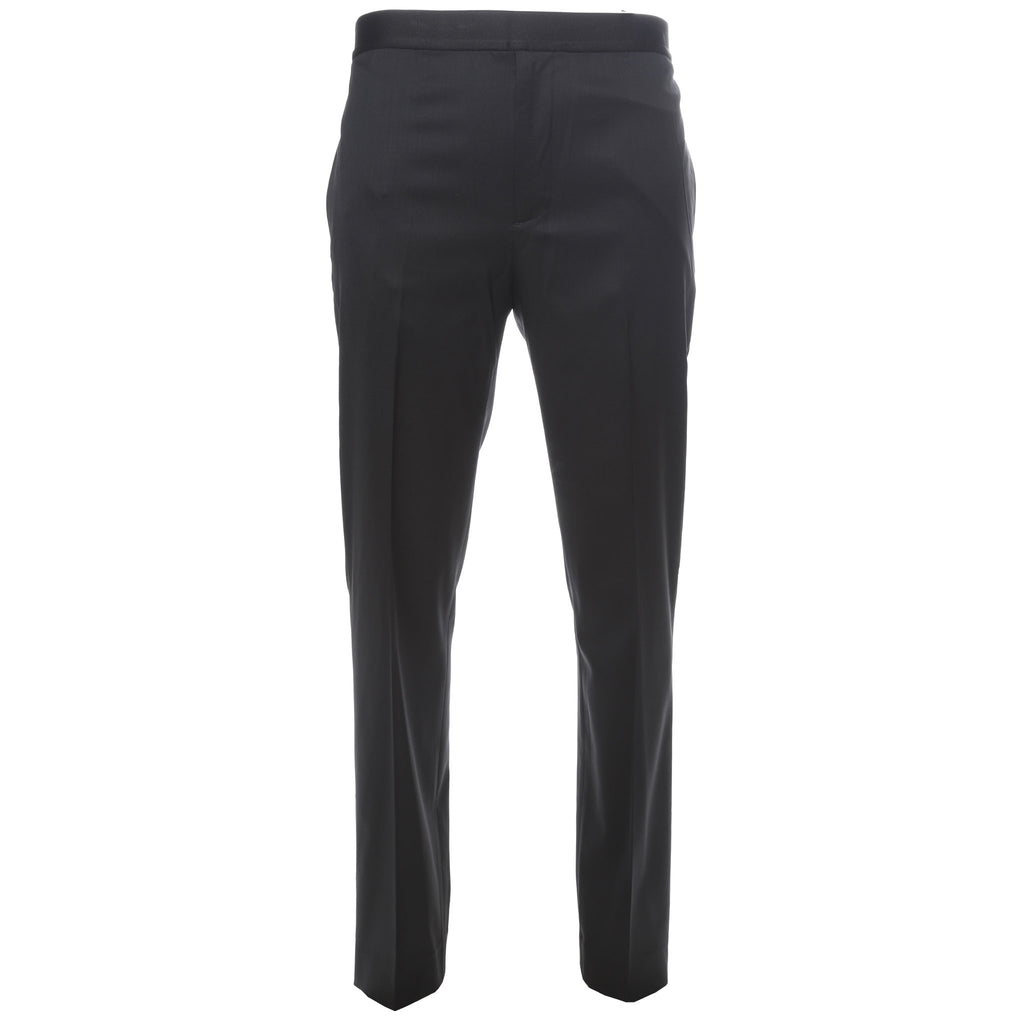 Helmut Lang Black Elastic Waistband Wool Trousers
