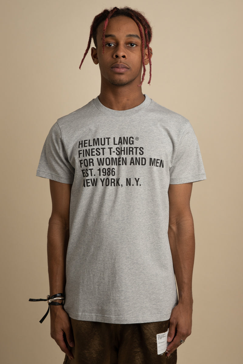 Helmut Lang - Grey Standard Cotton T-Shirt
