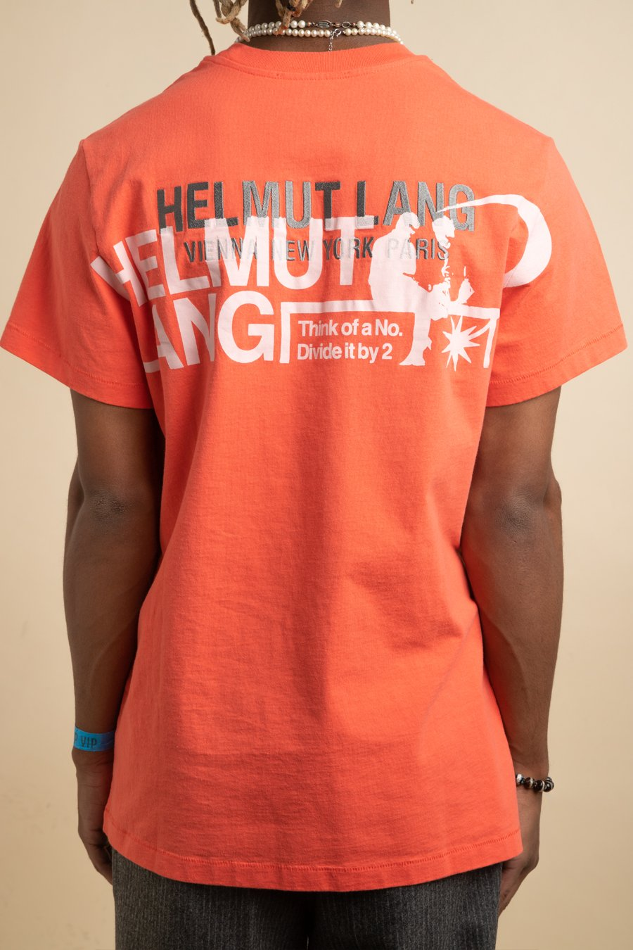 Helmut Lang - Orange Standard Logo T-Shirt