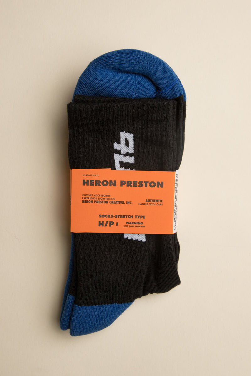 Heron Preston - Black & Blue CTNMb Socks