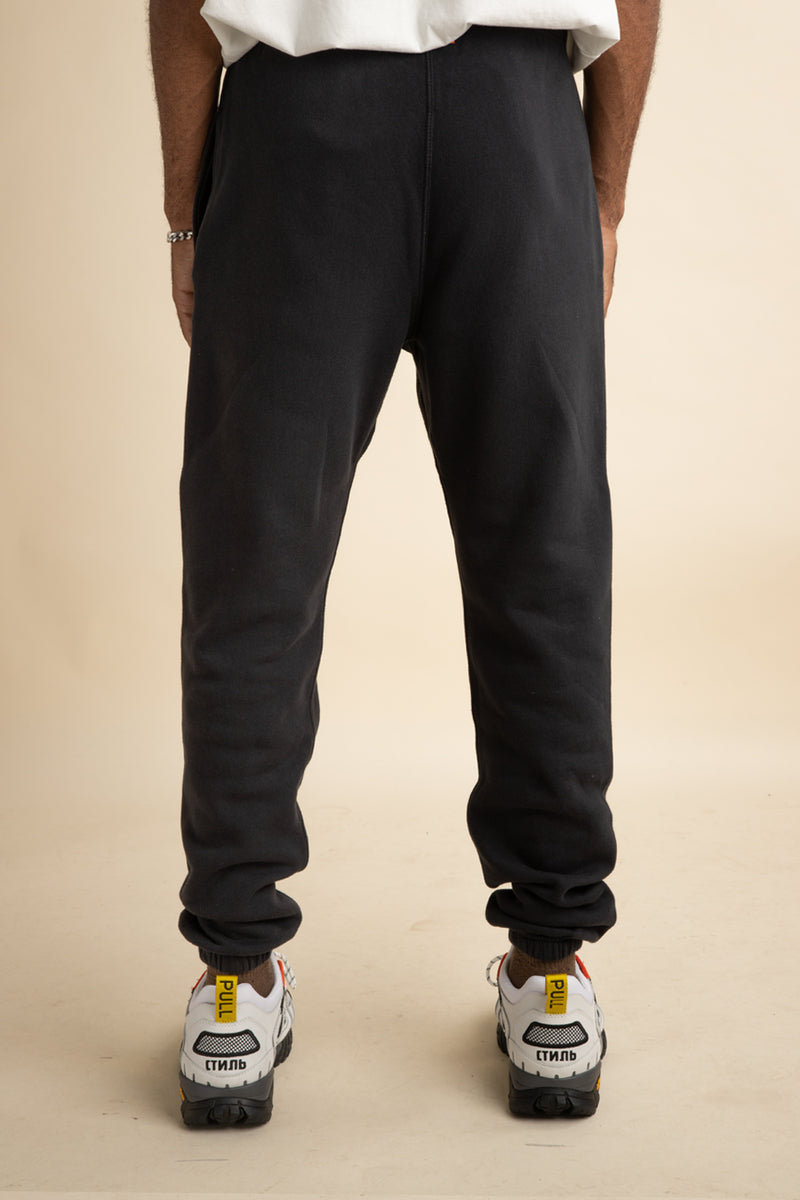Heron Preston - Black Slim Sticker Label Sweatpants