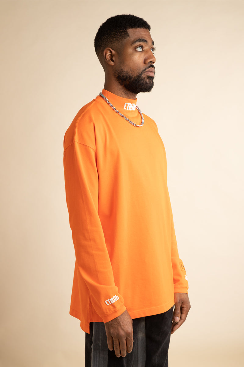Heron Preston - Orange CTNMb Turtleneck Long Sleeve T-Shirt