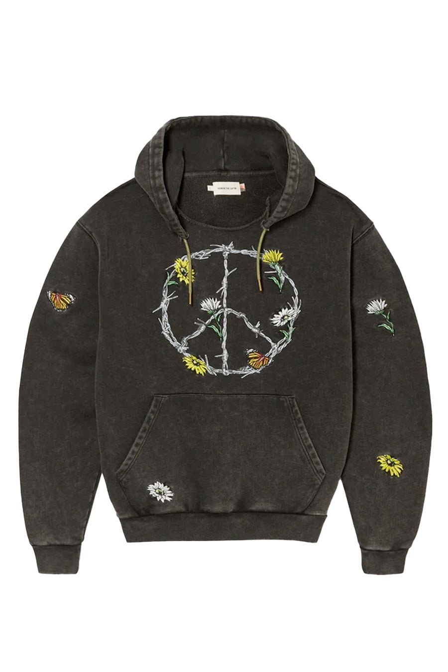 Honor the. Gift - Black Iron Peace Hoodie | 1032 SPACE