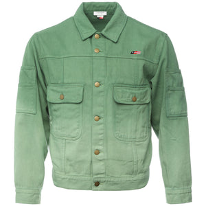 Honor the Gift - Green Dip Dye Gridlock Denim Jacket
