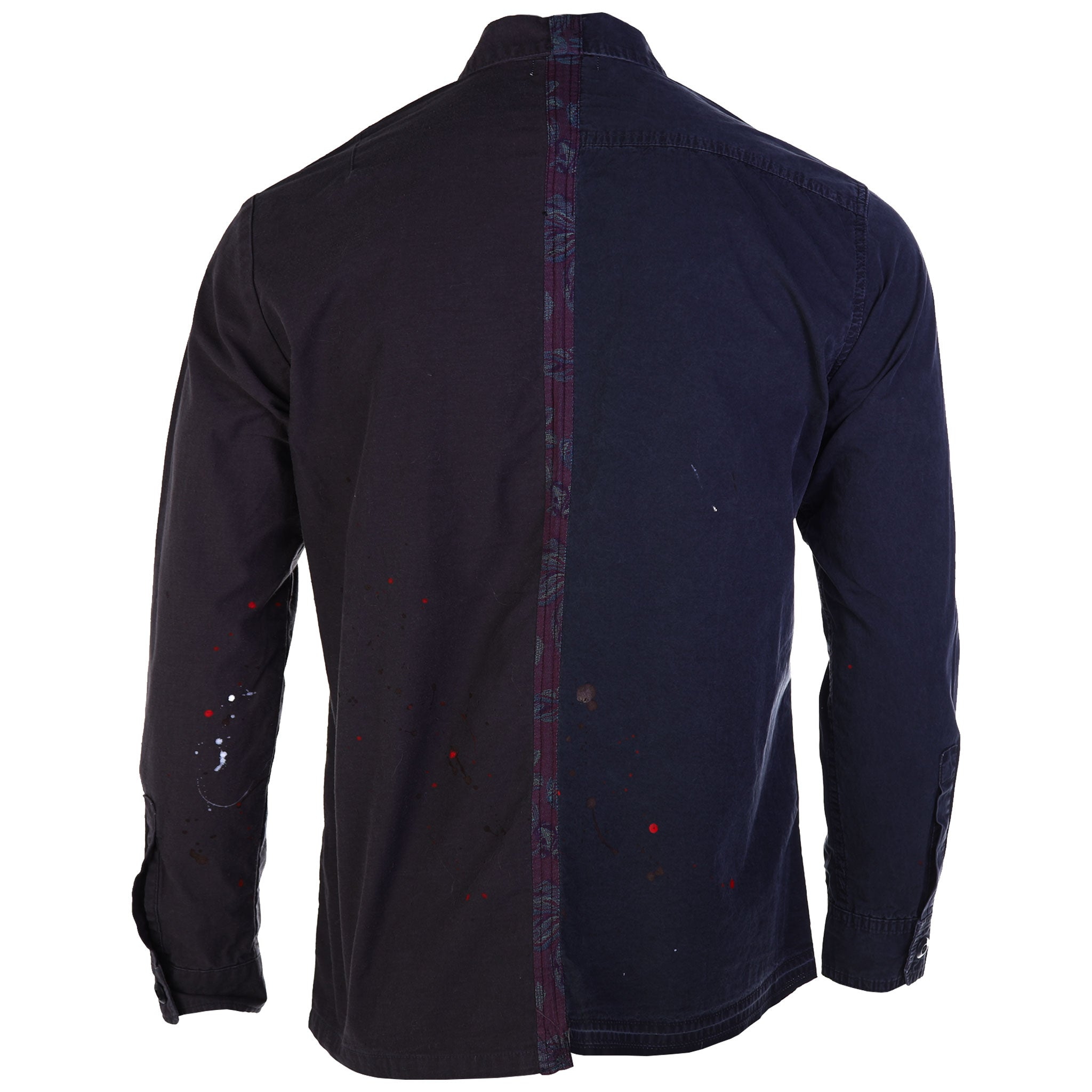John Elliott Distorted Military Button Down Shirt Delirum Black Paint Splatter Back 2018 AW18 fall winter