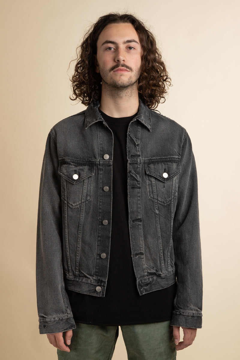 John Elliott - Black Washed Thumper Denim Jacket Type III