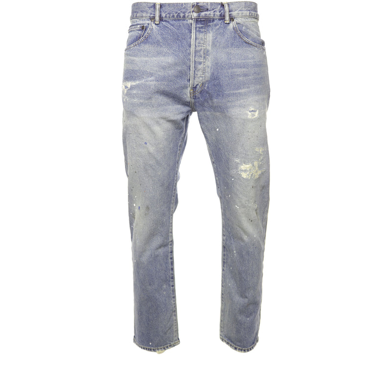 John Elliott - Blue Cairo The Kane Cropped Denim Jeans