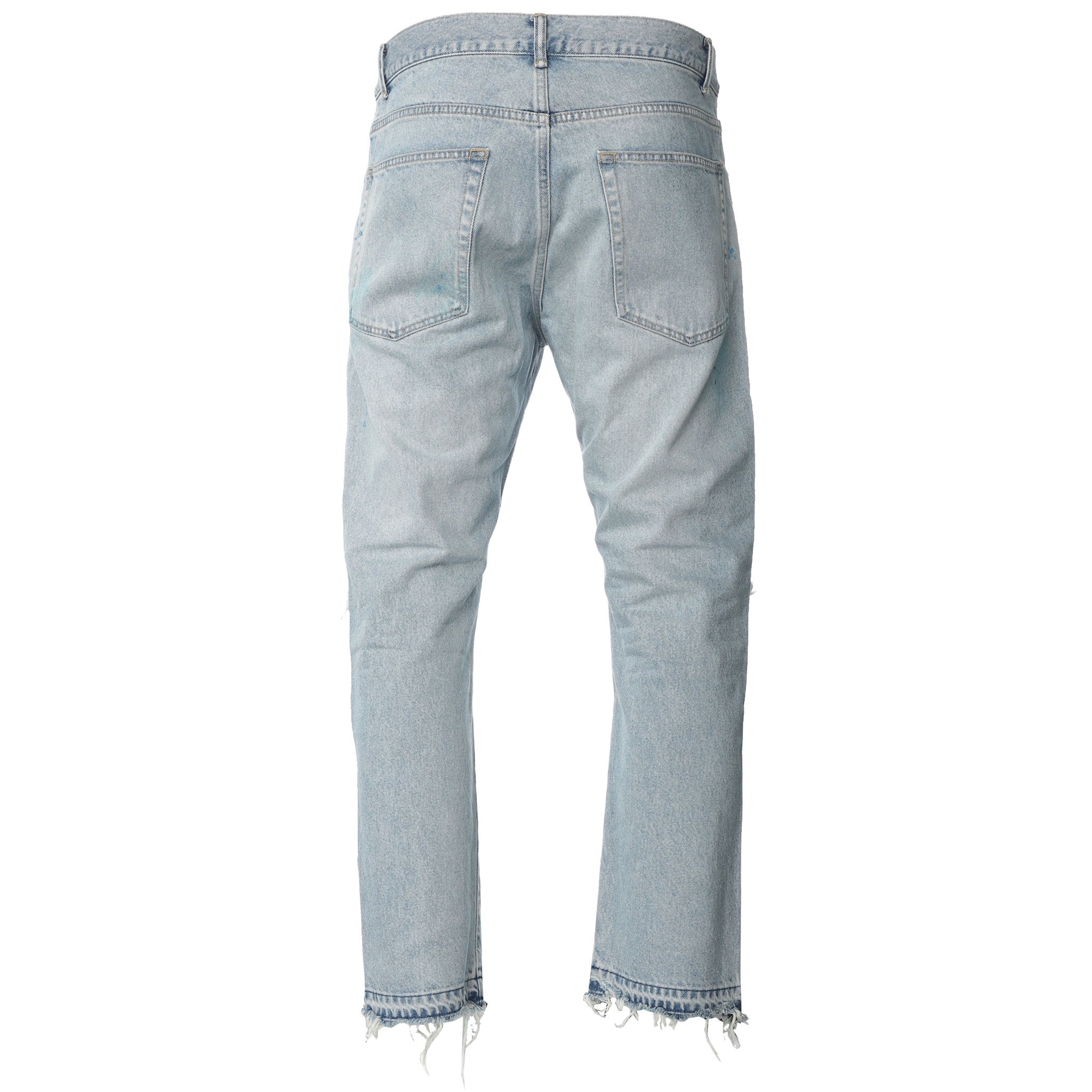 John Elliott - Blue Lassen The Kane Cropped Denim Jeans