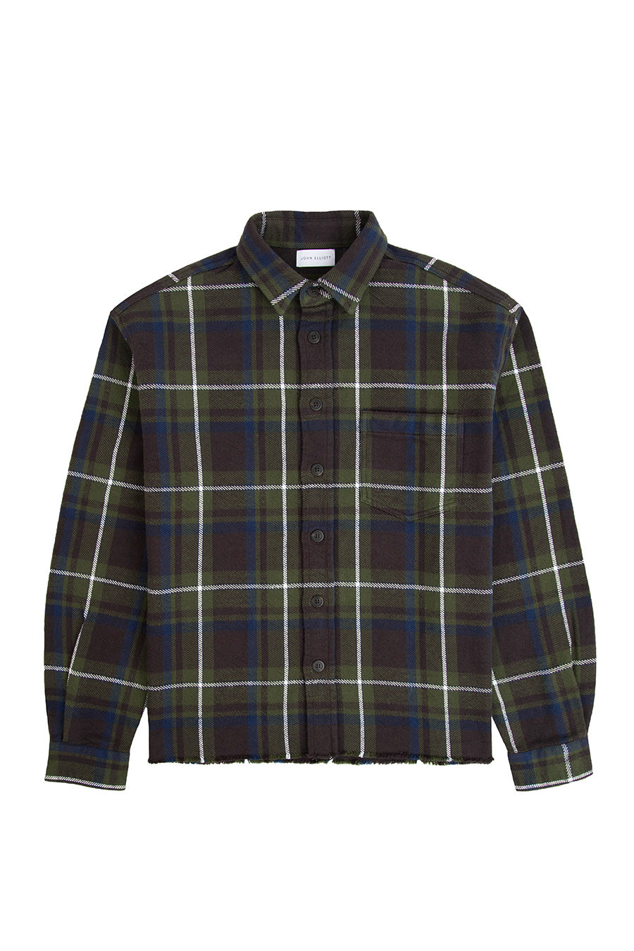 John Elliott - Dark Green Butte Plaid Hemi Oversized Shirt | 1032 SPACE