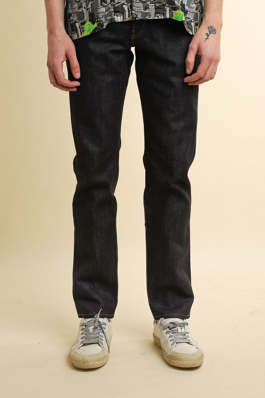 John Elliott - Indigo Daze Straight Fit Raw Selvedge Jeans