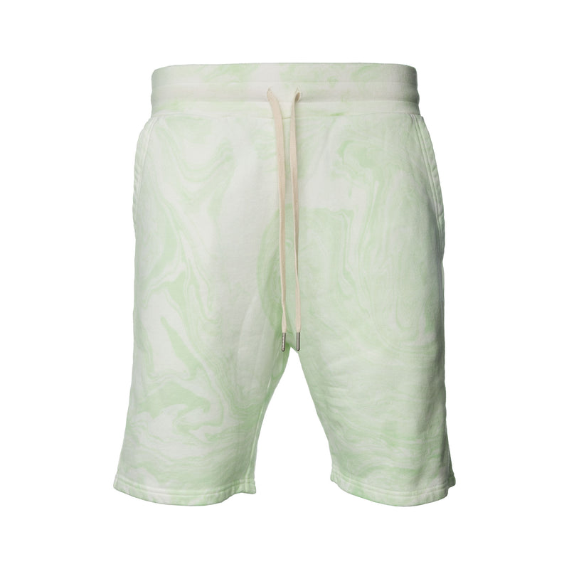 John Elliott - Green Mint Marble Dye Shorts