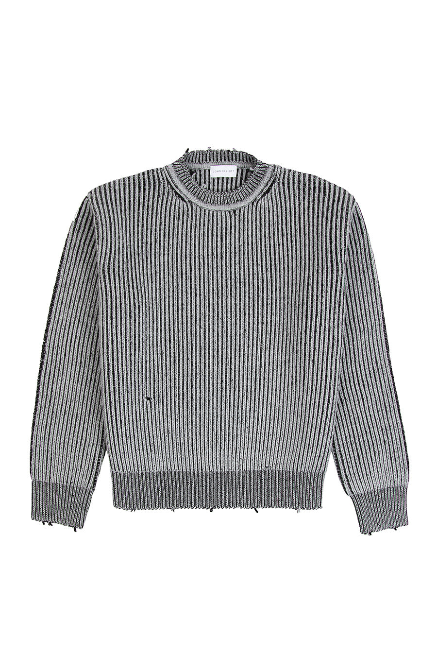 John Elliott - Grey Ash Structure Wool Knit Sweater | 1032 SPACE