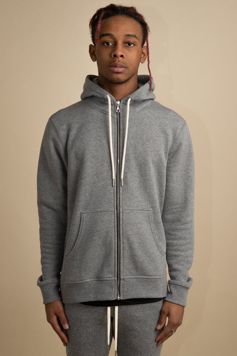 John Elliott - Grey Flash 2 Zip Hoodie