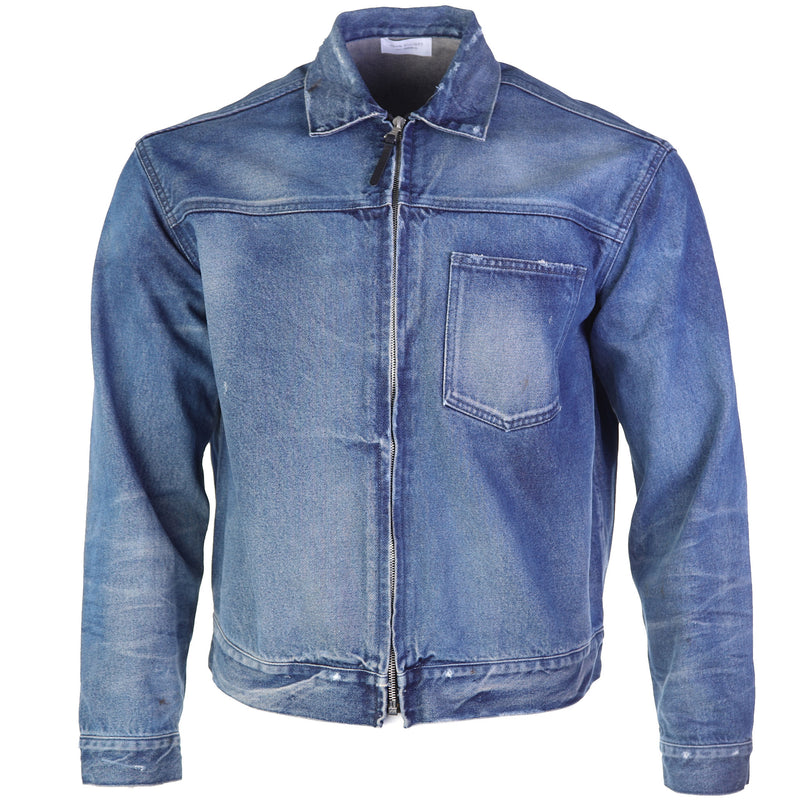 John Ellott - Blue Washed Denim Zip Blouson