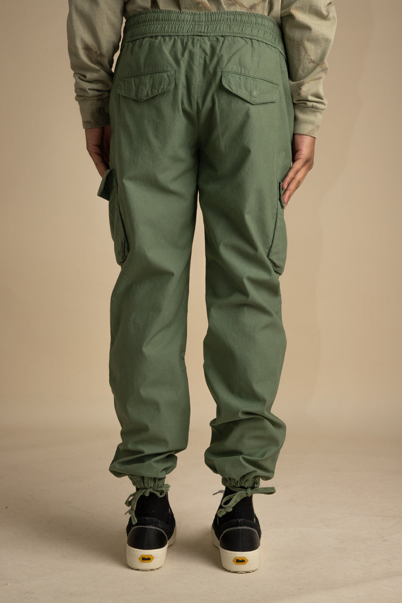 John Elliott - Olive Back Sateen Cargo Pants